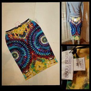 Bisou Bisou Bodycon Tie Dye Skirt M